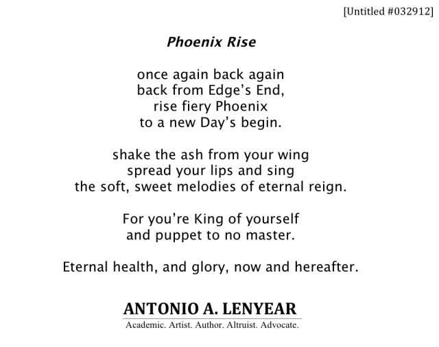 Phoenix Rise (POEM) - Untitled #032912